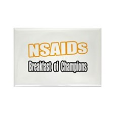 """NSAIDs...Breakfast"" Rectangle Magnet"