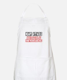 """Heart Attacks Are Not Cool"" BBQ Apron"