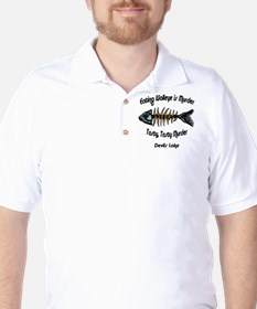 Eating Walleye is Murder Golf Shirt