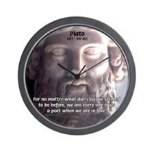 Dialogues of Plato Poet in Love Wall Clock
