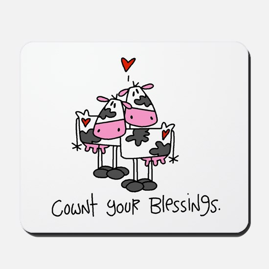 Cownt Your Blessings Mousepad