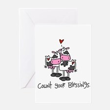 Cownt Your Blessings Greeting Card