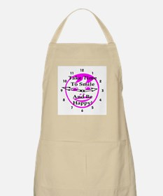 Take Time To Smile And Be Happy! BBQ Apron