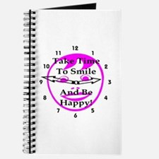 Take Time To Smile And Be Happy! Journal