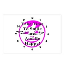 Take Time To Smile And Be Happy! Postcards (Packag