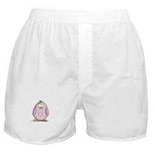 Pink Easter Egg Penguin Boxer Shorts