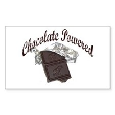 Chocolate Powered Rectangle Decal