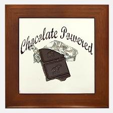 Chocolate Powered Framed Tile