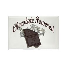 Chocolate Powered Rectangle Magnet
