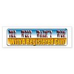 The West Wasn't Won Bumper Sticker (50 pk)