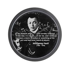 Wolfgang Pauli: Principles in Physics Wall Clock