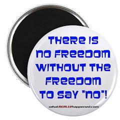 NO FREEDOM Magnet