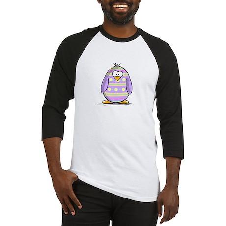 Lavender Easter Egg Penguin Baseball Jersey