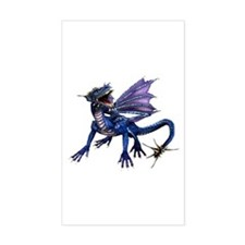 Blue Dragon Rectangle Decal
