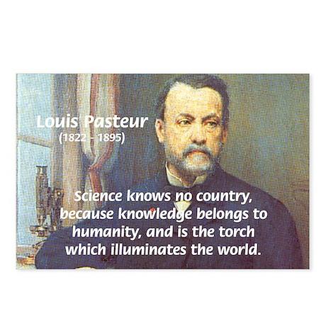 Louis Pasteur: Science Humanity Postcards (Package
