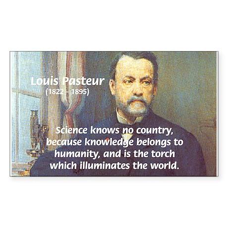 Louis Pasteur: Science Humanity Sticker (Rectangul