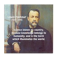 Louis Pasteur: Science Humanity Tile Coaster