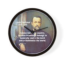 Louis Pasteur: Science Humanity Wall Clock