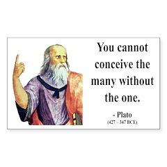 Plato 7 Rectangle Decal
