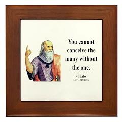 Plato 7 Framed Tile
