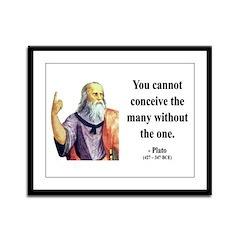 Plato 7 Framed Panel Print