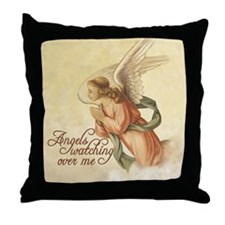 Angels Watching Throw Pillow