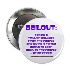 """BAILOUT 2.25"""" Button (10 pack)"""