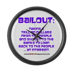 BAILOUT Large Wall Clock