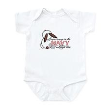 Somebunny in the Navy Loves M Infant Bodysuit