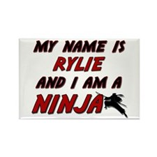 my name is rylie and i am a ninja Rectangle Magnet