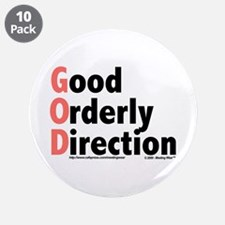 "GOD 3.5"" Button (10 pack)"