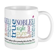 Think Color Reg Coffee Mug Phil 4:8