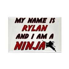 my name is rylan and i am a ninja Rectangle Magnet