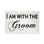 With the Groom Rectangle Magnet (100 pack)
