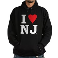 I LOVE NJ (Red Heart) Hoodie