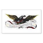 WRH Eagle Rectangle Sticker 50 pk)