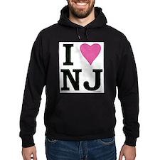 I LOVE NJ (Pink Heart) Hoodie