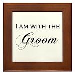 With the Groom Framed Tile