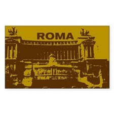 Stickers! Roma - vitorriano - gold (Rectangular)