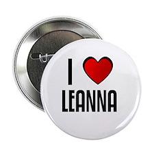"I LOVE LEANNA 2.25"" Button (100 pack)"