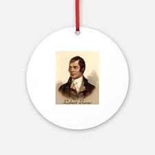 Robert Burns Portrait Ornament (Round)