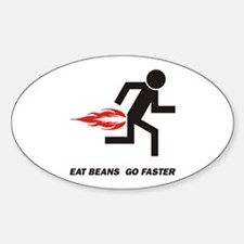 Eat Beans Oval Decal