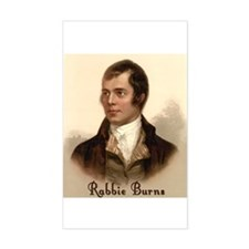 Rabbie Burns Portrait Rectangle Decal