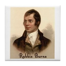 Rabbie Burns Portrait Tile Coaster