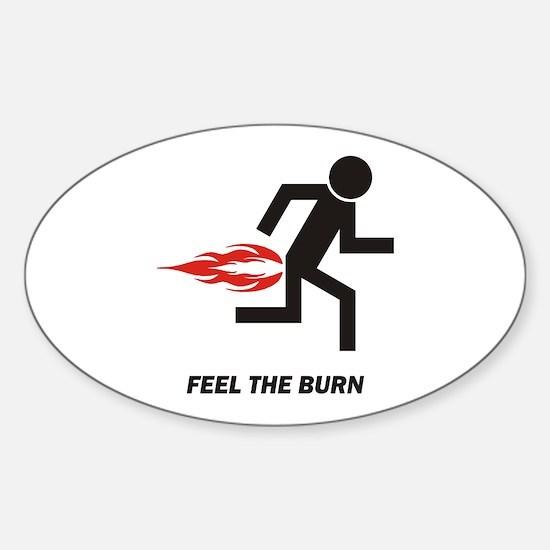 Burn Oval Decal