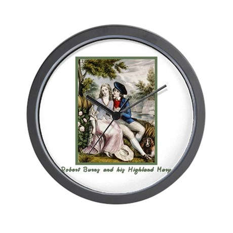 Robert Burns & Highland Mary Wall Clock