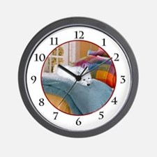 Westie Napping Wall Clock