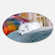Westie Napping Decal