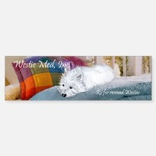 Westie Napping Bumper Bumper Sticker