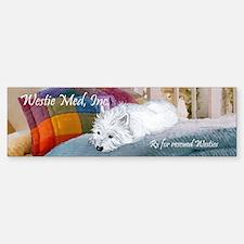 Westie Napping Sticker (Bumper)